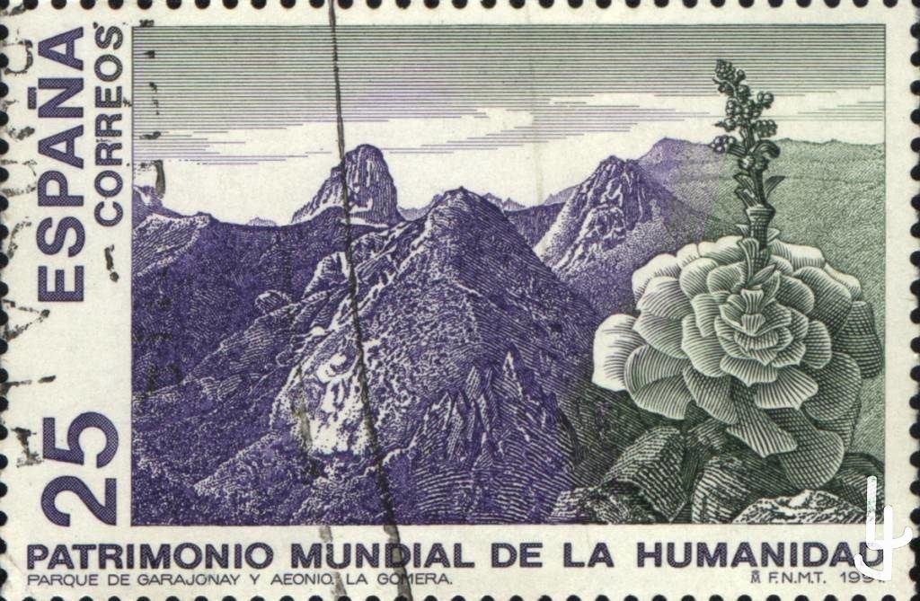 Sello Postal España, 25 Pta. año 1991