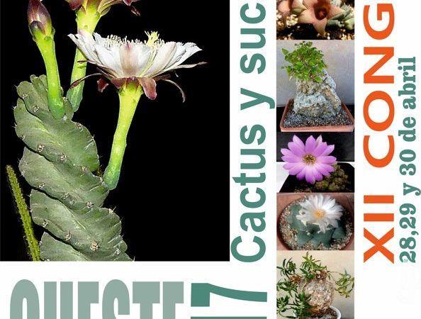 XII Congreso Cheste Cactus y Suculentas. Cartel del evento.
