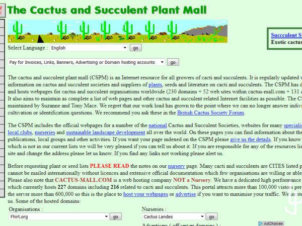 http://www.cactus-mall.com El mayor directorio de plantas suculentas de Internet.